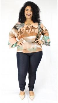 Blusa Camelo Plus Size