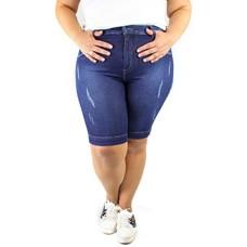 Bermuda Jeans Zamper's Plus Size Destroyed
