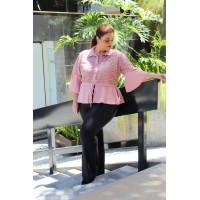 Blusa Acinturada  plus size feminina em Guipir Repenique