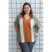 Blusa Listras  plus size feminina Decência