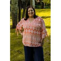 Blusa  plus size feminina Liz Repenique