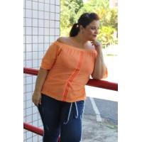 Blusa  plus size feminina Ombro a Ombro Repenique