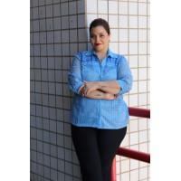 Camisa em Guipir  plus size feminina Repenique