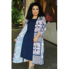 Kimono Plus Size Feminino Estampado Via Tolentino