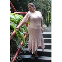 Vestido  plus size feminino de renda com pontas Repenique