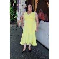 Vestido Decote V plus size feminino Repenique