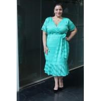 Vestido de Renda plus size feminino c/ Babado Repenique