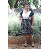 Vestido plus size feminino em Guipir Repenique