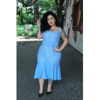 Vestido plus size feminino em Guipir sem Manga Repenique