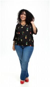 Blusa Cacto Plus Size