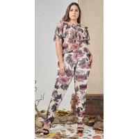 Conjunto plus size feminino Floral Cigana Urbana Modas