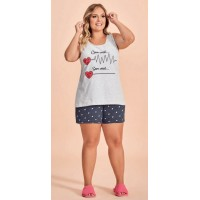 Conjunto Short Doll Plus Size
