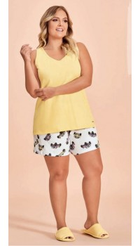 Conjunto Short Doll Regata Amarela