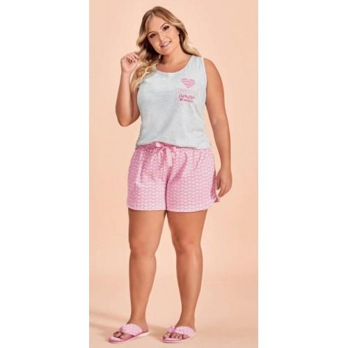 Conjunto Plus Size Short Doll Love-Fi Feminino Lua Encantada