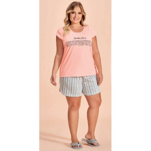 Conjunto Plus Size Short Doll Feminino Família Lua Encantada