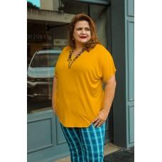 Blusa T-Shirt plus size feminina básica tamanho 54 Dalu modas