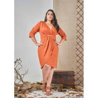 Vestido Transpassado plus size  Urbana Modas